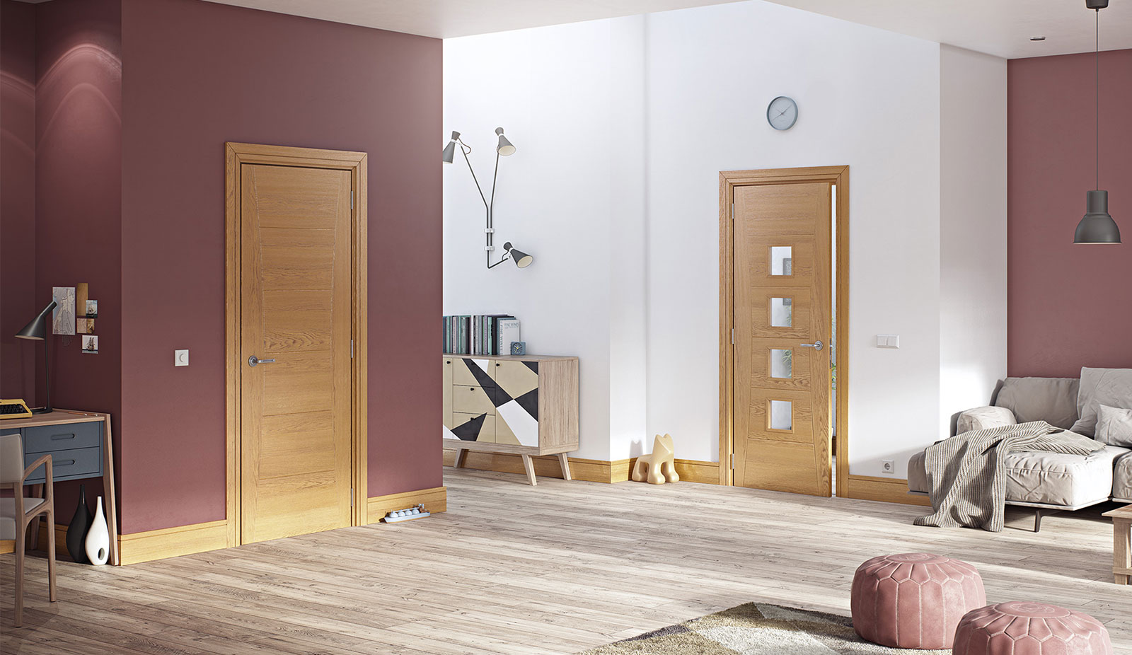 door oak hp18-hp18g u