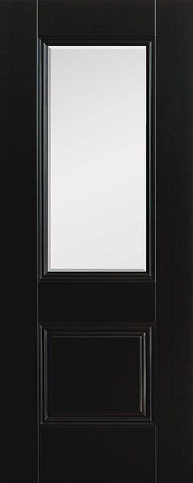door black Arnhem 1panel 1 lite clear bevelled glass