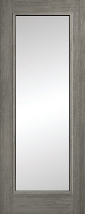 door grey Daiken 1lite clear glass