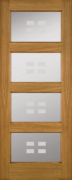 door oak Bali frosted glass