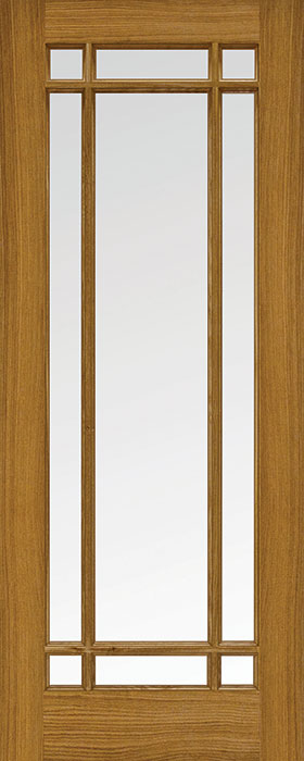 door oak Tonga 9 lite clear glass