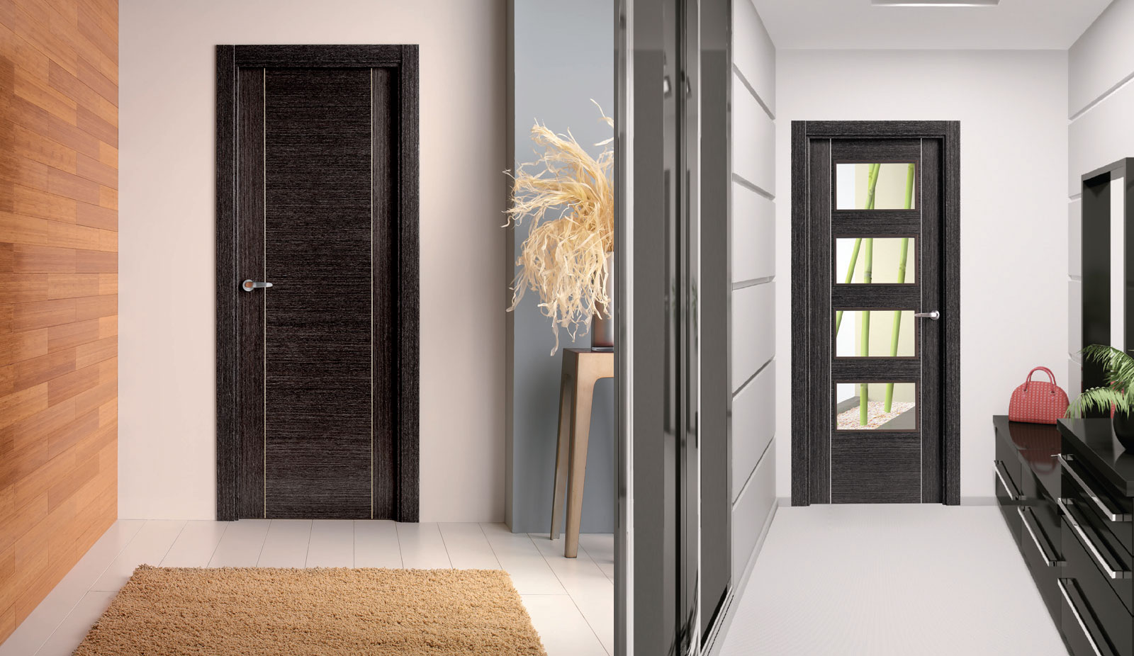 door oak charcoal 7300 and charcoal 7314 unglazed room