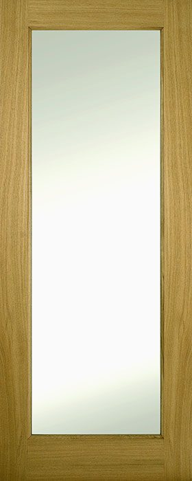 door oak contract 1 panel clear glass