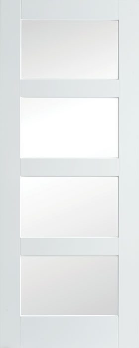 door primed shaker 4 lite clear glass