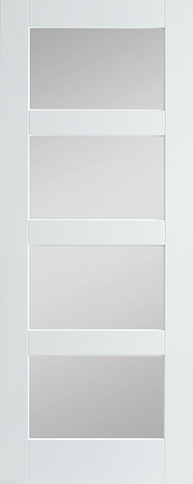 door primed shaker 4 lite frosted glass