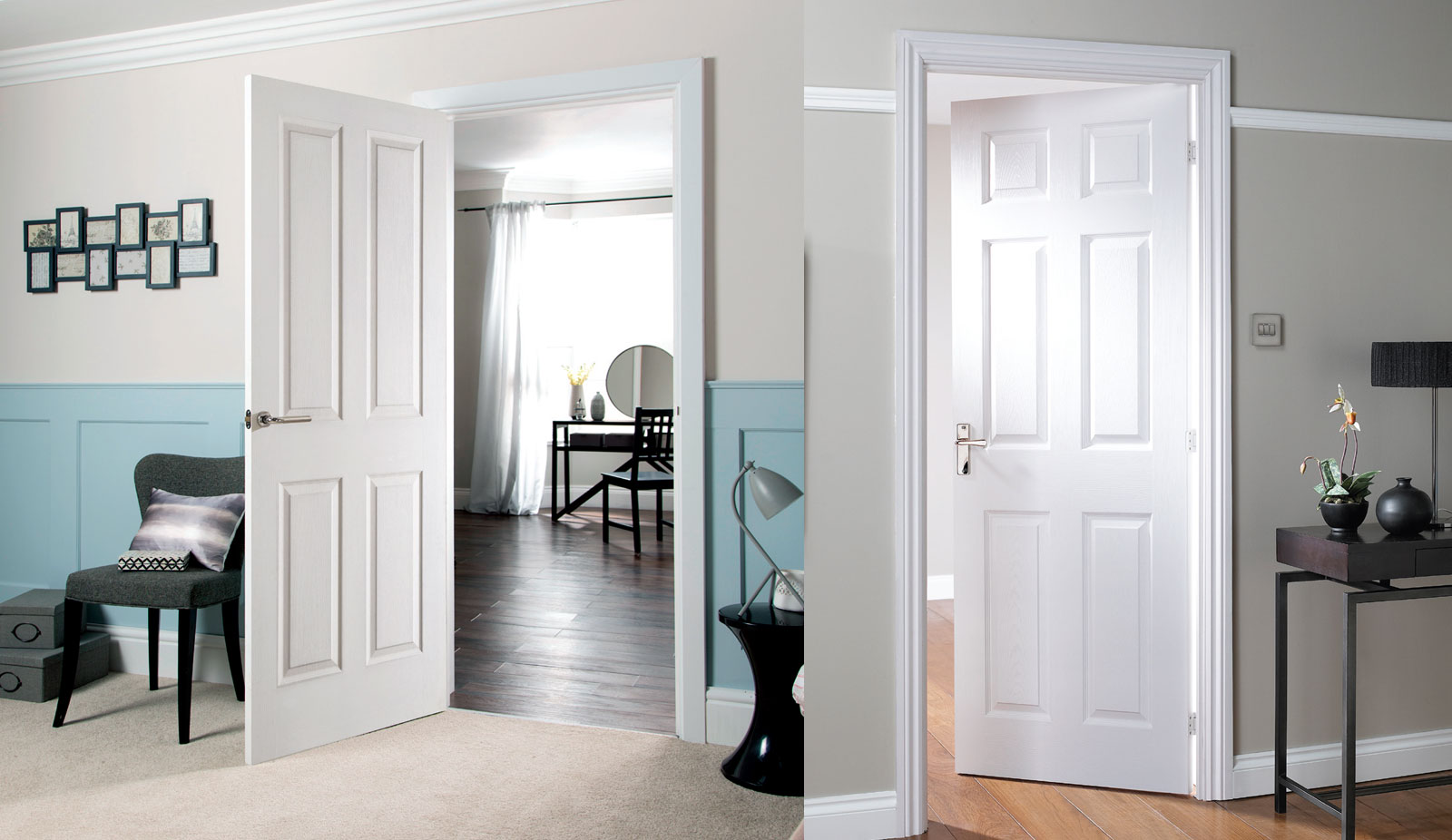 door regency Canterbury woodgrain fd30 and Bostonian -fd30 room