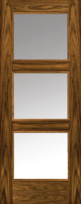 door walnut 3203 clear glass