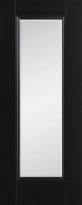 door black Amsterdam 1 lite clear bevelled glass