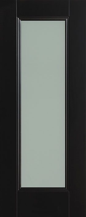 door black Amsterdam 1 lite opal laminate