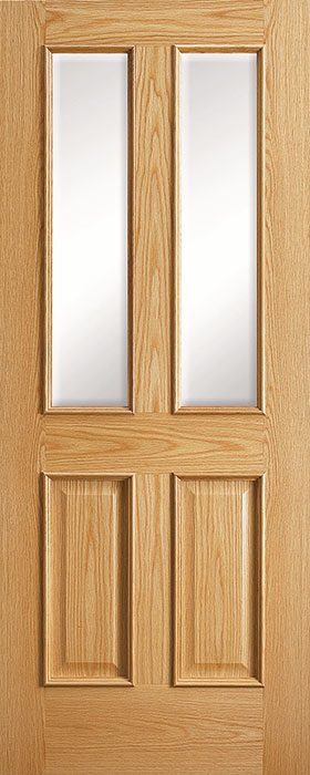 door oak 2040 rlv 2v clear bevelled glass