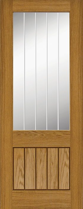 door oak Mexicana 1 lite clear glass