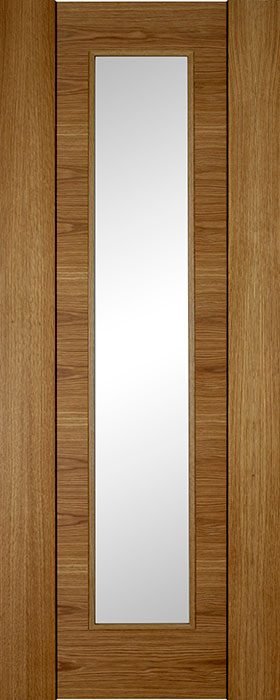 door oak Norma clear glass