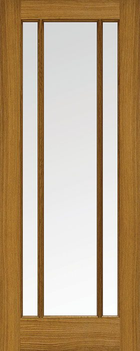door oak Samoa 3 lite clear glass