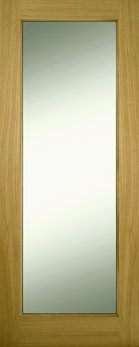 door oak contract 1 panel frosted glass