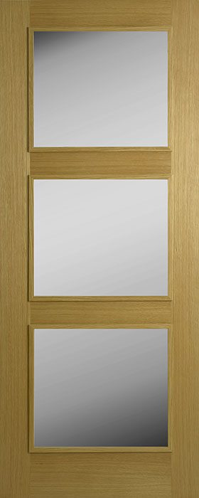 door oak contract 3 lite frosted glass