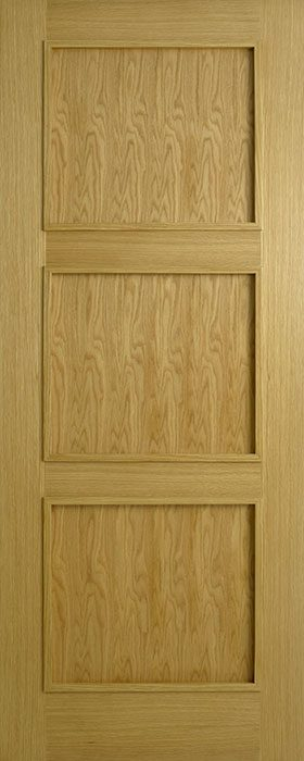door oak contract 3 panel modern bead