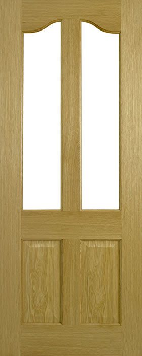 door oak contract Richmond 2 panel 2 lite