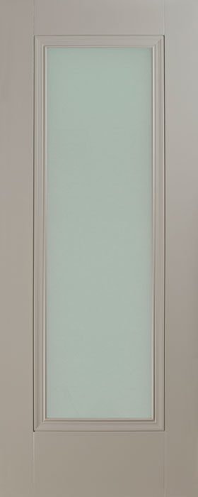door silk grey Prague 1 lite opal laminate