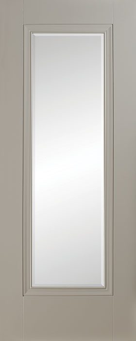 door silk grey Prague 1 panel clear bevelled glass