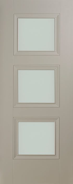 door silk grey Vienna 3 lite opal laminate