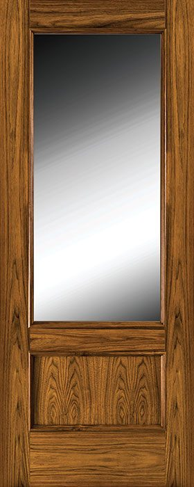door walnut 214 clear glass