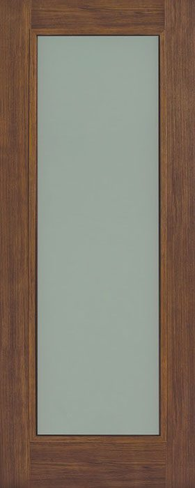door walnut Daiken 1lite opal laminate