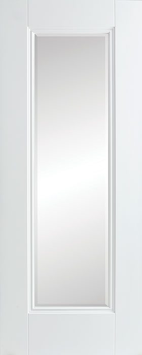 door white Amsterdam 1 lite-clear bevelled glass
